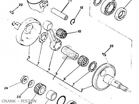 Yamaha Yz175 1976 Usa Crank - Piston