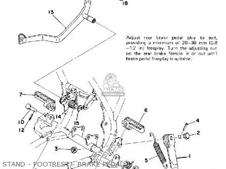 Yamaha Yz175 1976 Usa Stand - Footrest - Brake Pedal