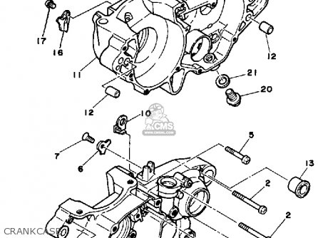Yamaha Yz250 1986 g Usa Crankcase