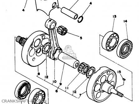 Yamaha Yz250 1986 g Usa Crankshaft-piston