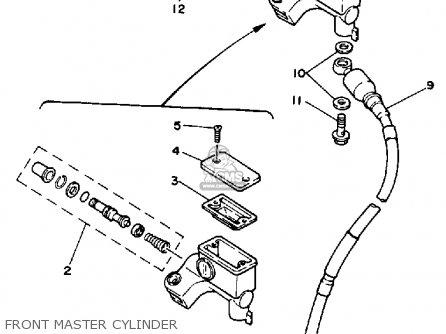 Yamaha Yz250 1986 g Usa Front Master Cylinder