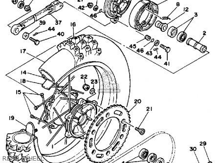 Yamaha Yz250 1986 g Usa Rear Wheel