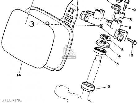 Yamaha Yz250 1986 g Usa Steering