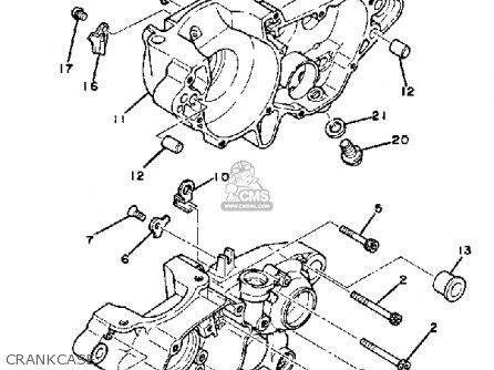 Yamaha Yz Competition C Usa Crankcase Mediumyau B on Yamaha Yz250 Carburetor Diagram