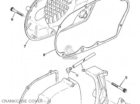 Yamaha Yz B Crankcase Cover Mediumyau A A D on 2002 Ford Taurus Serpentine Belt Diagram