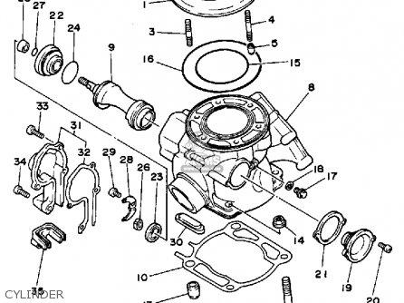 Yamaha Yz250s 1986 Cylinder