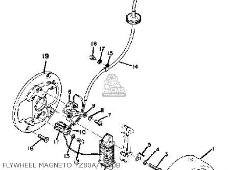 Yamaha Yz80a Competition 1974-1976 Flywheel Magneto Yz80a yz80b