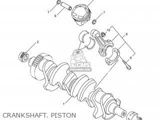 yamaha yzf-r1 1999 4xv7 japan 194xv-300e4 crankshaft  piston  crankshaft