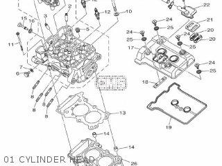 Yamaha Yzf-r3a 2015 B023 Europe 1pb02-300e1 01 Cylinder Head
