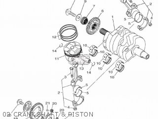 Yamaha Yzf-r3a 2015 B023 Europe 1pb02-300e1 02 Crankshaft  Piston