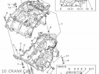 Yamaha Yzf-r3a 2015 B023 Europe 1pb02-300e1 10 Crankcase