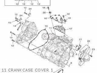 Yamaha Yzf-r3a 2015 B023 Europe 1pb02-300e1 11 Crankcase Cover 1