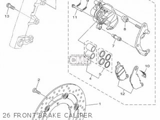 Yamaha Yzf-r3a 2015 B023 Europe 1pb02-300e1 26 Front Brake Caliper