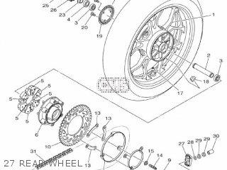 Yamaha Yzf-r3a 2015 B023 Europe 1pb02-300e1 27 Rear Wheel