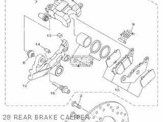 Yamaha Yzf-r3a 2015 B023 Europe 1pb02-300e1 28 Rear Brake Caliper