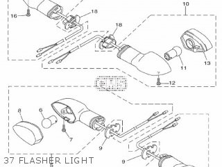 Yamaha Yzf-r3a 2015 B023 Europe 1pb02-300e1 37 Flasher Light