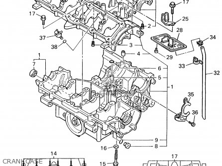 yamaha yzf600rg 1995 parts list partsmanual partsfiche. Black Bedroom Furniture Sets. Home Design Ideas