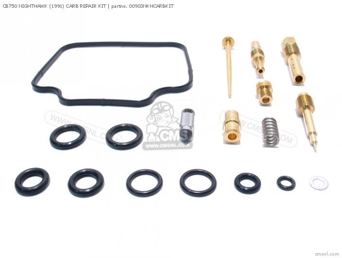 Cb750 Nighthawk 1992 Usa 01600-key-0903n Cb750 Nighthawk 1991 Carb Repair Kit