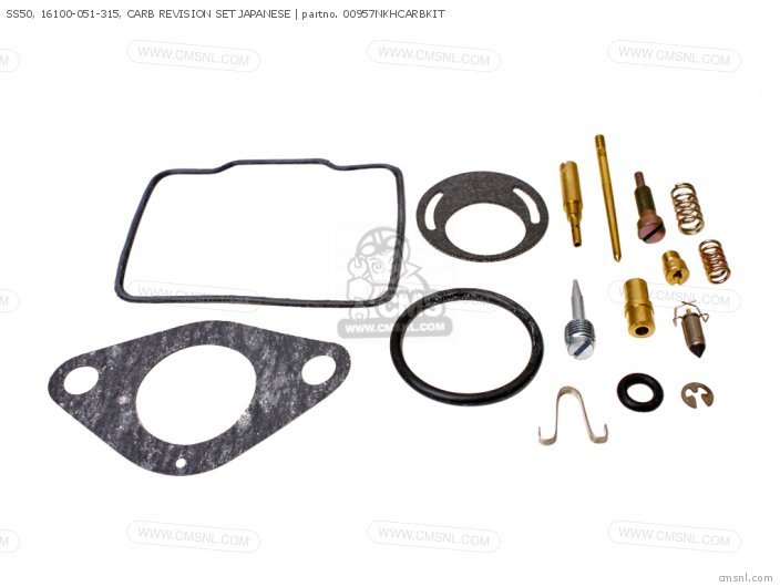 (01600-KEY-0957N) SS50, 16100-051-315, CARB REVISION SET JAPANES