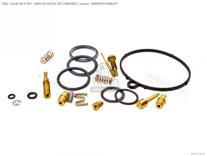 (01600-KEY-0959N) C50J, 16100-GK4-947, CARB REVISION SET JAPANES