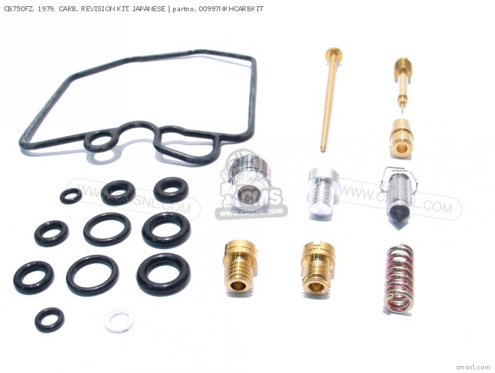 (01600-KEY-0997N) CB750FZ, 1979, CARB. REVISION KIT, JAPANESE