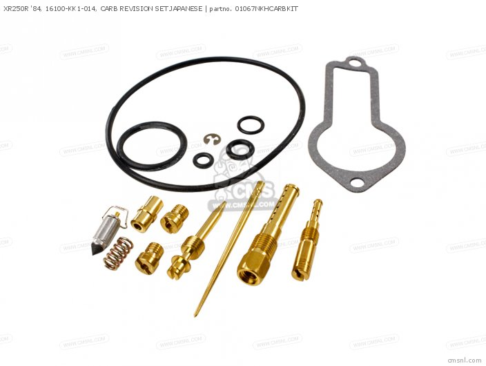 (01600-KEY-1067N) XR250R '84, 16100-KK1-014, CARB REVISION SET J