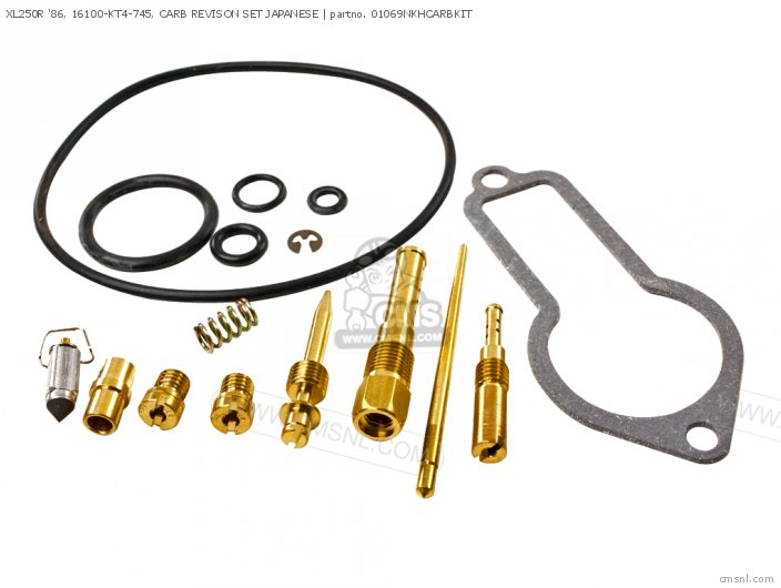 (01600-KEY-1069N) XL250R '86, 16100-KT4-745, CARB REVISON SET JA
