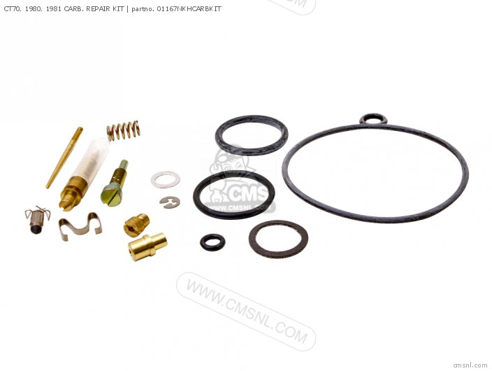 (01600-KEY-1167N) CT70, 1980, 1981 CARB. REPAIR KIT