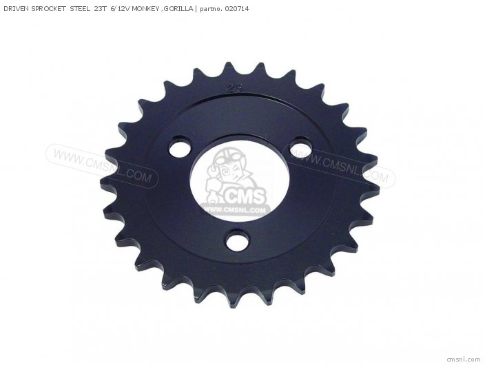 (02-07-0007) DRIVEN SPROCKET  STEEL  23T  6/12V MONKEY ,GORILLA