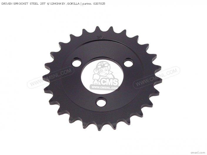 (02-07-0008) DRIVEN SPROCKET  STEEL  25T  6/12MONKEY ,GORILLA