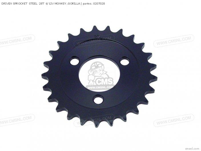 (02-07-0009) DRIVEN SPROCKET  STEEL  28T  6/12V MONKEY ,GORILLA