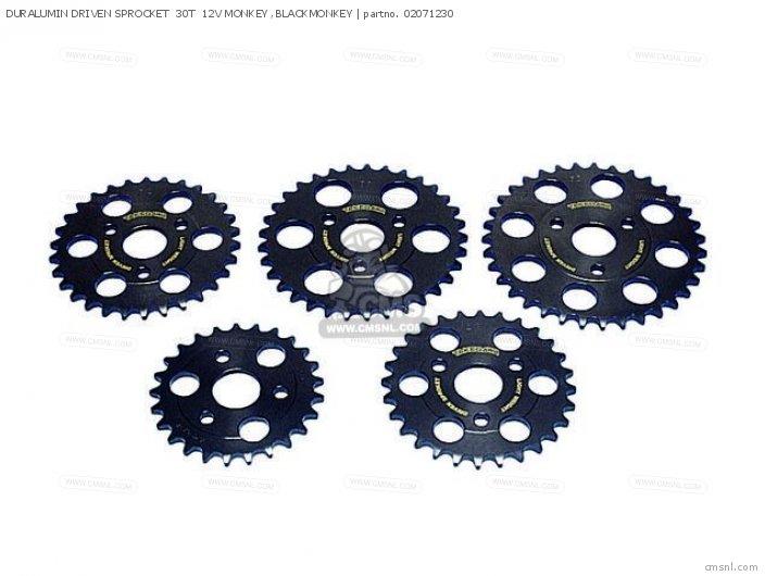 (02-07-0013) DURALUMIN DRIVEN SPROCKET  30T  12V MONKEY ,BLACKMO