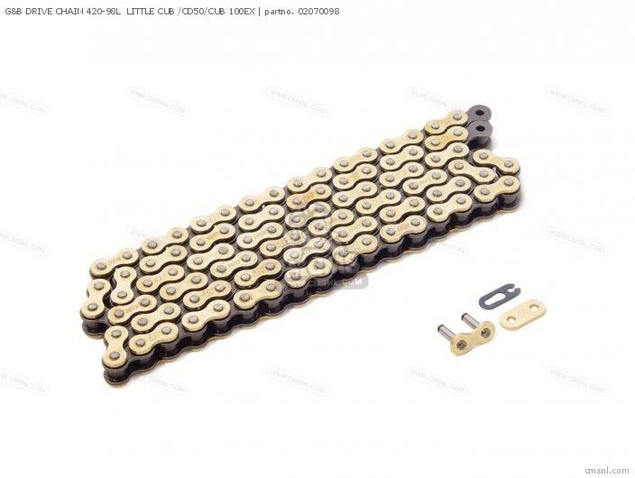 (02-07-0137) G&B DRIVE CHAIN 420-98L  LITTLE CUB /CD50/CUB 100EX