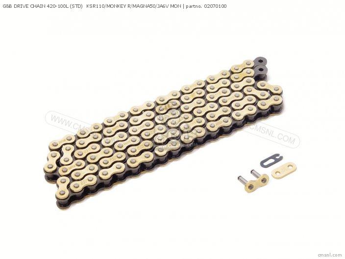 (02-07-0138) G&B DRIVE CHAIN 420-100L (STD)  KSR110/MONKEY R/MAG