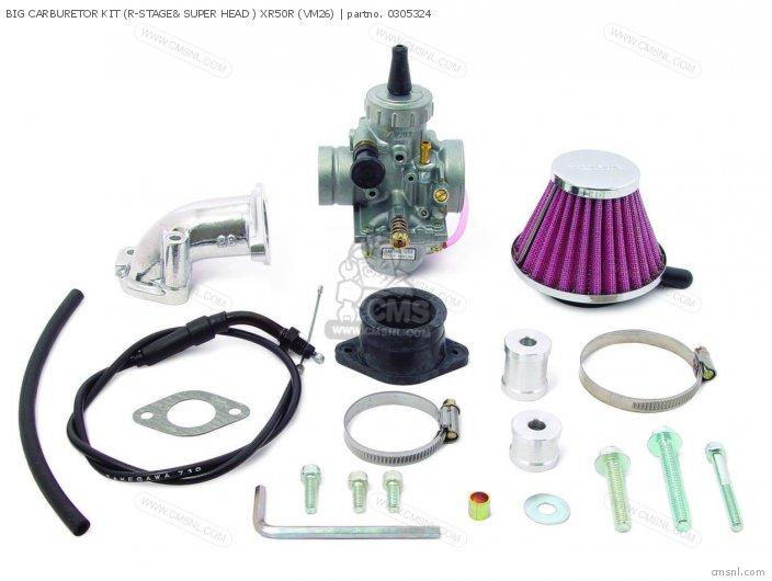 (03-05-3245) BIG CARBURETOR KIT (R-STAGE& SUPER HEAD ) XR50R (VM