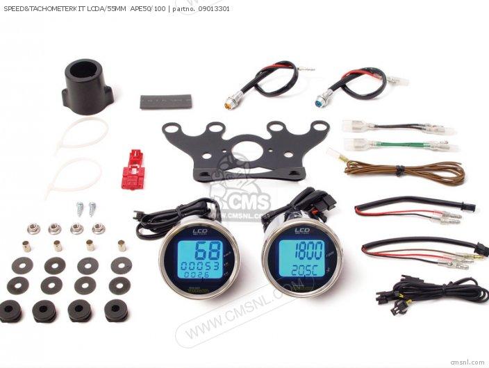 (05-05-3301) SPEED&TACHOMETERKIT LCDA/55MM  APE50/100