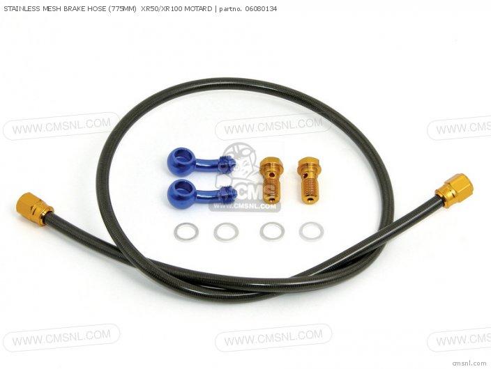 (06-08-0136) STAINLESS MESH BRAKE HOSE (775MM)  XR50/XR100 MOTAR