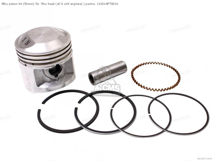 Custom Parts 06131-rrp-812 85cc Piston Kit 51mm For 70cc Head all 6 Volt