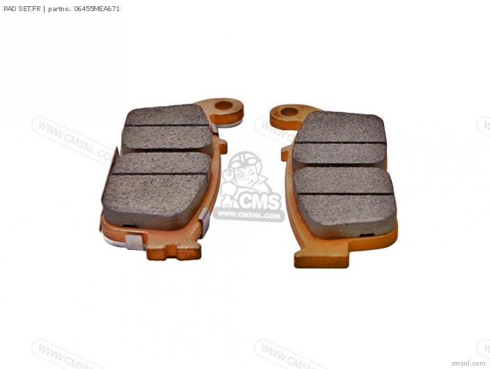 Cbf500 2004 European Direct Sales   3ed 06455-mea-672 Pad Set fr