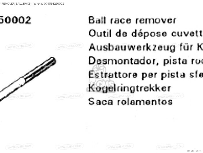 (07953-MJ1-000B) REMOVER,BALL RACE