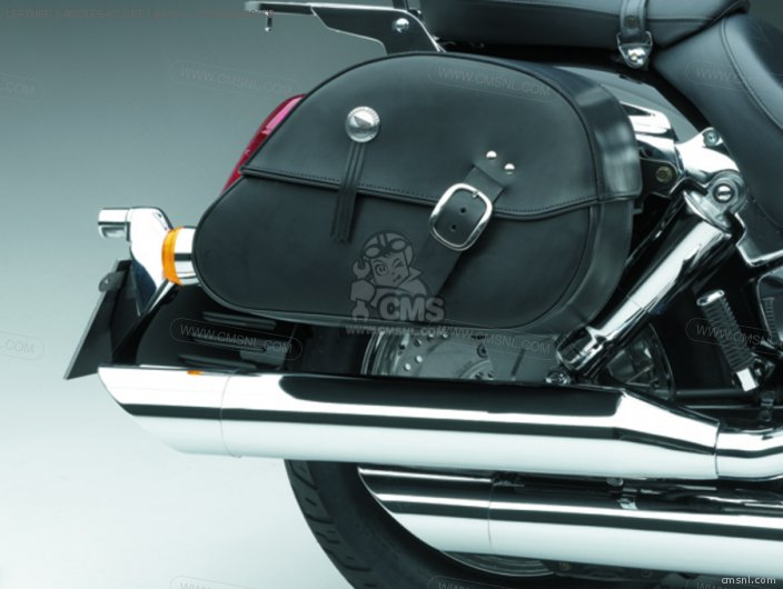 Vtx1300s 08l56-meg-801b Leather Saddlebag Set