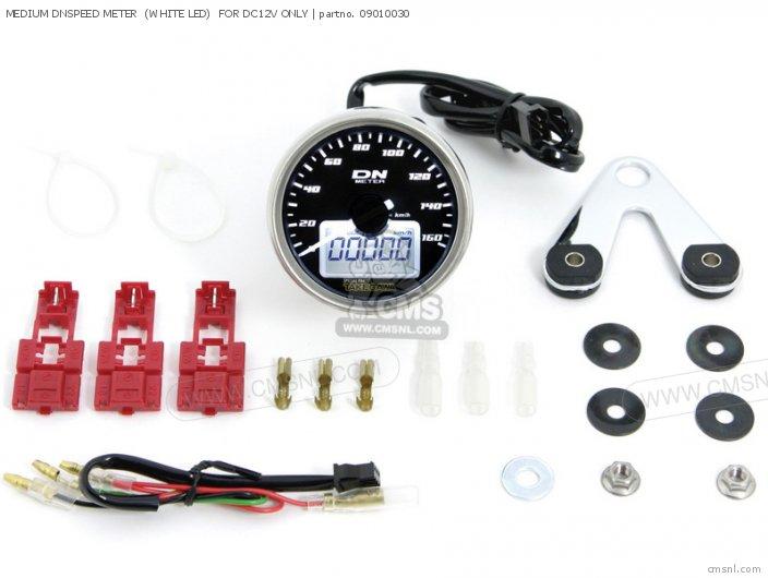 (09-01-0032) MEDIUM DNSPEED METER  (WHITE LED)  FOR DC12V ONLY