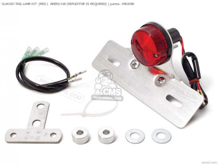 (09-03-0802) CLASSIC TAIL LAMP KIT  (RED )  APE50/100 (REFLECTOR