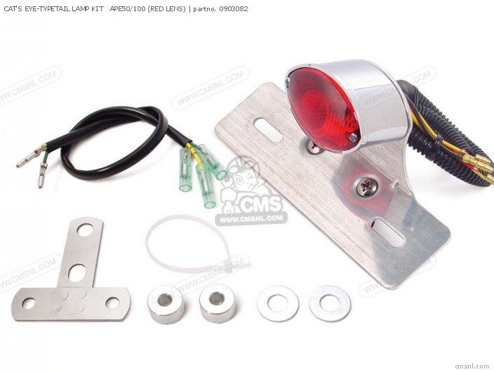 (09-03-0804) CAT'S EYE-TYPETAIL LAMP KIT   APE50/100 (RED LENS)