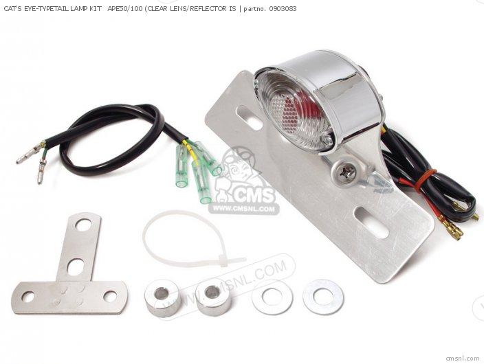 (09-03-0805) CAT'S EYE-TYPETAIL LAMP KIT   APE50/100 (CLEAR LENS