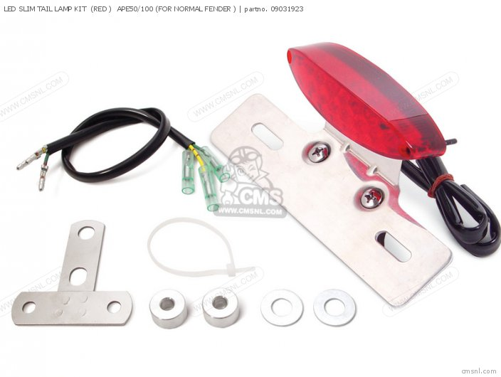 (09-03-1945) LED SLIM TAIL LAMP KIT  (RED )  APE50/100 (FOR NORM