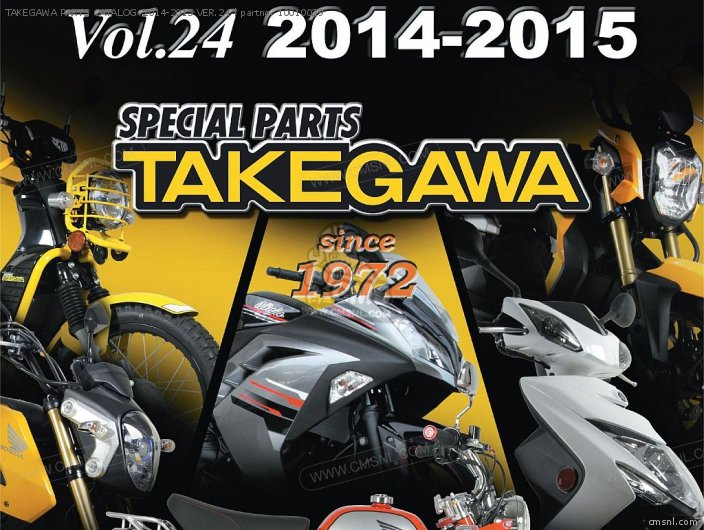 10-01-0033 TAKEGAWA PARTS CATALOG 2014-2015 VER 24