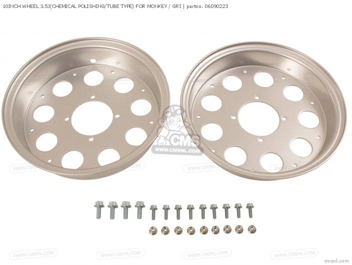 10inch Wheel 3.5j(chemical Polishing/tube Type) For Monkey / Gri photo