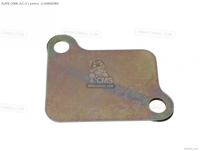 Cb750 Nighthawk 1992 n Usa 11108-mw3-601 Plate Comp  a c o