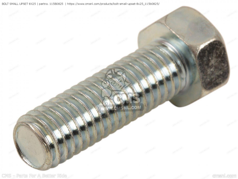 115b0825 115g0825 Bolt Small Upset 8x25 Kawasaki 115b0825